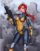 Deacon Black's G.I. Joe Scarlett - Colors by TracyWong