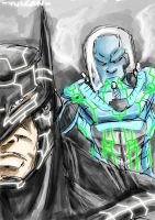 Mr.Freeze and Batman by lijohn321
