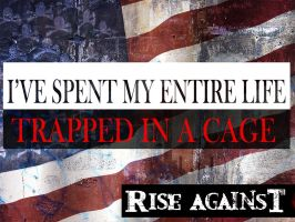 Rise Against Cage by rockchili
