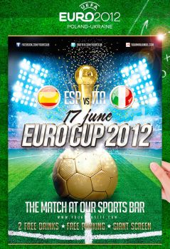Euro Soccer Cup 2012 Flyer by jellygraphics