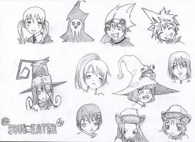 Soul Eater Studies by Shadow-wolves666