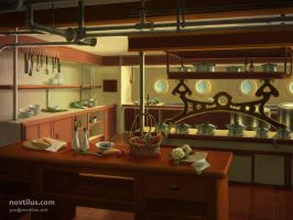 1st Class Galley of Titanic by novtilus