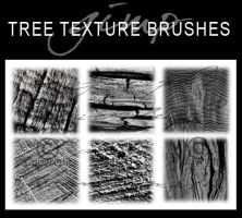 6 Tree Texture Brushes by dcmbrnite