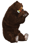 Brown Bear 04 PNG Stock by Roy3D