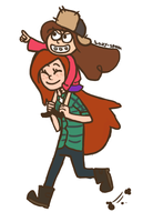 mabel and wendy by lazy-spoon