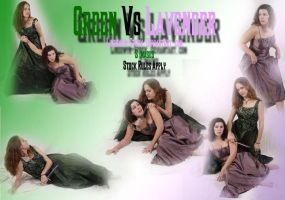 Green vs Lavender by lindowyn-stock