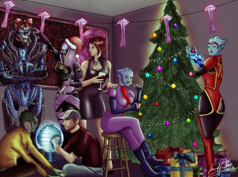 xmas in space by Striped-Stocking