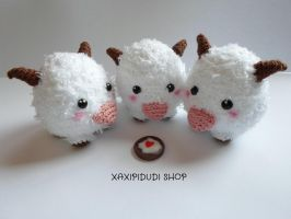 Llavero Amigurumi Poro League of Legends by Xaxipidudi