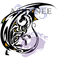 :: Green and Orange Dragon Tribal:: by Ashenee