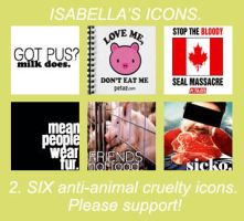 Anti-Animal Cruelty Icons by isabellyy