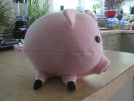 Mr Waddles the 15lb pig (side view) by cubseidl