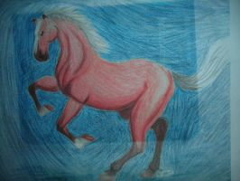 Colored Pencil Horse by DarthJader11