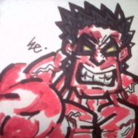 Red Hulk aka RULK by dark-es-will
