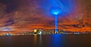 9 11 Memorial Lights 2010 by MasterWegman