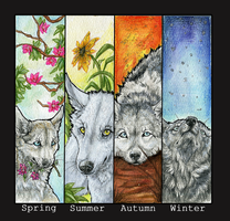 .:4 season wolves:. by WhiteSpiritWolf
