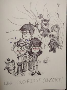 The Loud House - Luna Loud First Concert by pikapika212