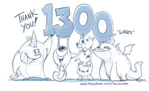 Facebook 1300 by KelleeArt