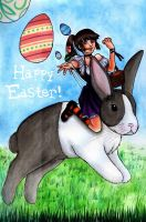 The Easter Bunny Rider by dievegge
