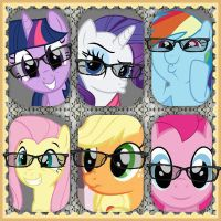 Mane seis hipsters mane six hipsters by AnnaRarityXD