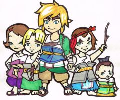 Link and Ordon s kids. by LaraVell