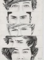 Cool pencil drawing of one direction by ganz13676