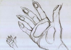 Sketch furry hand by Draconica5
