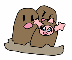 #051 Dugtrio! by Coral-the-Corsola