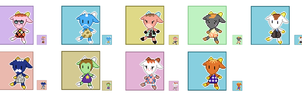 Animal Crossing Pixel Avatars- Goats by Maareep