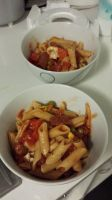 Chorizo, veg and mushroom penne by Roses-and-Feathers