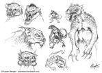 Creature Design: Sketches pg 1 by AustenMengler