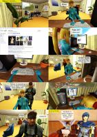 Samus googles her name. by Clauoise