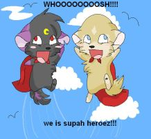 We Iz Supah Heroez by SasoriDanna94