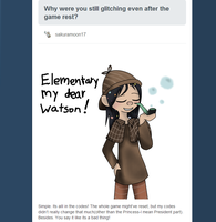 Sherlock Vanellope(Ask Question 1) by Werewolfe1