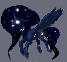 Princess Luna Take Two by unicornkettle