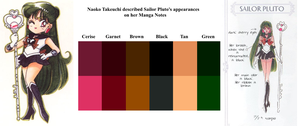 Original Sailor Pluto's Appearance Colors by Saiyaness-N-Goddess