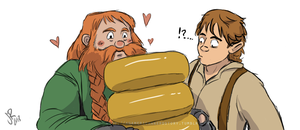 Bilbo and Bombur - He Eats It By The Block by LeTwigs