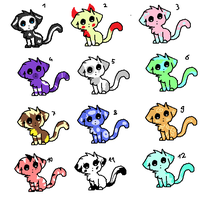[ADOPTABLES] 12 Kittens Adoptables 1 Points Each ! by CuteToyBonnie