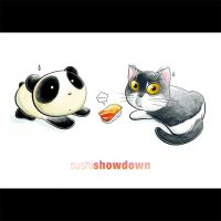 Panda Showdown Tiem by snowmask