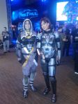 Tali and Femshep by Bored2d