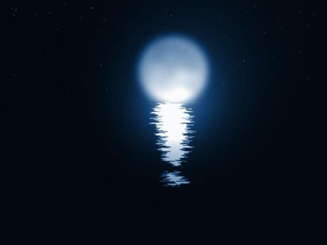 Moon Over The Water by baf1