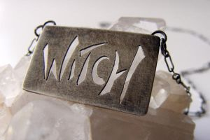 Witch necklace with patina by MoonLitCreations