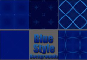 Blue Repeatable Backgrounds by ariimage