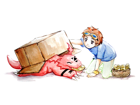 Guilmon and Takato by Detoreik