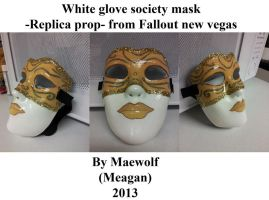 White glove society mask DONE! by Maewolf86
