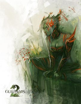 Guild Wars 2 | Sylvari Fanart by RyoTazi