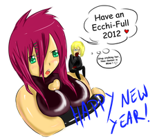 Happy and Ecchifull 2012 - Colored by Xykun