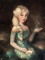 Queen of Arendelle by hyamei