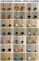 Amigurumi Animal Head Charms by pocket-sushi