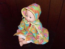 Raincoat and Bonnet by LauraLynnTreasures