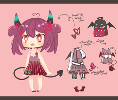 Sweet Demon Girl Adopt Offer [CLOSED] by Miehana
